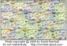 Shells and Clusters Baby Blanket Design by Sandi Marshall