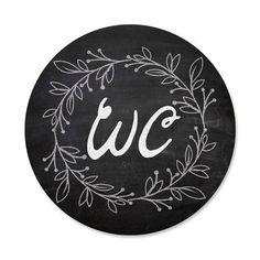 1 Stück WC-Schild Toiletten-Schild Klo-Schild im Tafel-Kreide Look schwarz weiß - neutral - Caravan Decor, Hanging Canvas, Neutral, Decorative Plates, Sweet Home, Shabby, Gallery Wall, Prints, Stuck
