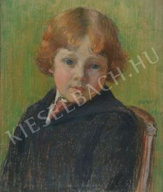 Portrait of a Red-Headed Child (The Kunffy Boy) - Lajos Kunffy