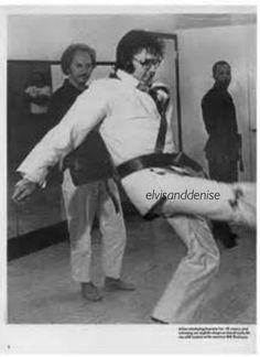 In action, karate - Elvis never left