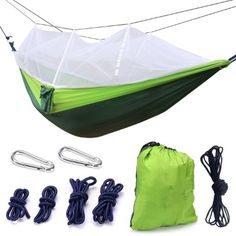Camp Sleeping Gear Humble High Strength Parachute Nylon Fabric Camping Single Parachute Hammock With Strong Rope For Camping Hiking Travel