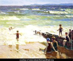 Bathers by the Shore - Edward Henry Potthast - www.edwardhenrypotthast.org