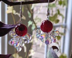 Jewellery Earrings, Drop Earrings, Jewelry, Agates, Red Glass, Wind Chimes, Quartz, Etsy Shop, Glasses