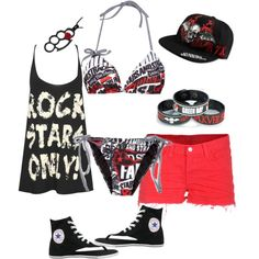 """amazing punk rock summer outfit"" by nicoleweyer on Polyvore"