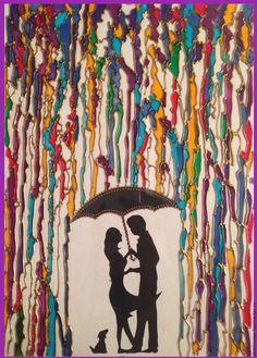 """Купить картина на стекле, витражная роспись - """"Влюбленные"""" - фиолетовый, влюбленные, любовь, картина на стекле"""