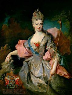 history-of-fashion:ab. 1716 Jean-Baptiste Oudry - Lady María Josefa Drummond, the Countess of Castelblanco
