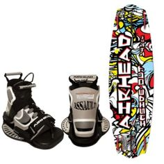 AIRHEAD Inside Out Wakeboard w/Assault Bindings
