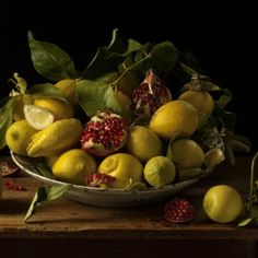 Lemons and Pomegranates, 2010, by Paulette Tavormina (born 1949 in Rockville Centre, New York) is an American fine-art photographer who lives and works in New York City.