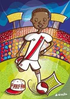 Copa América Chile 2015 Farfán https://www.behance.net/gallery/18967387/Aces-of-America-book