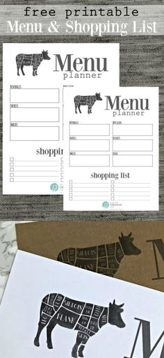 Free Printable Menu Planner | Planning your weekly meals just got easier! Download your free copy of this Modern Farmhouse menu planner.