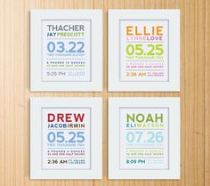 new babies, wall art, gift ideas, baby gifts, baby announcements
