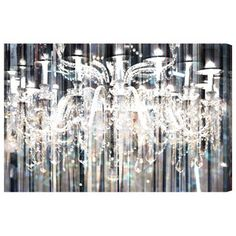 Diamond Shower Canvas Print, Oliver Gal