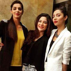 Mahira khan, ayesha omer and sanam saeed Pakistani Models, Pakistani Actress, Cute Celebrities, Celebs, Sanam Saeed, Mahira Khan, 15 Dresses, Famous Faces, All About Fashion