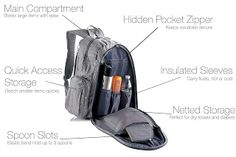 WowYouHaveALotofBooks: Stylish Travel Backpack Diaper Bag with Free Insul...