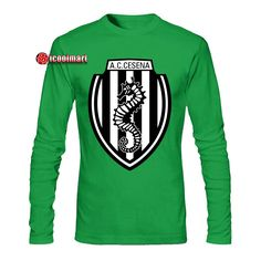 A.C.Cesena Logo T-shirts A.C.Cesena is one of the most popular teams in Big Five European Football Leagues,many people love it and support it,so A.C.Cesena Logo T-Shirt is your best choice. Putting on our soft and comfortable T-Shirt quickly to cheer for your favorite team! BENEFITS1.Fabric helps ke Soccer League, European Football, Put On, Cheer, Popular, Logo, Long Sleeve, People, Sleeves