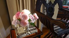 Fresh garden roses in Autumn light. Slim Paley