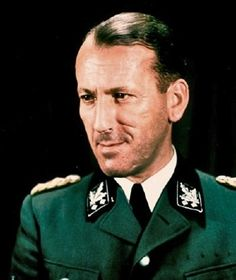 Ernst Kaltenbrunner (4 October 1903 – 16 October 1946) was an Austrian-born senior official of Nazi Germany during World War II. An Obergruppenführer (general) in the Schutzstaffel (SS), between January 1943 and May 1945 he held the offices of Chief of the Reich Main Security Office (Reichssicherheitshauptamt; RSHA). He was the highest-ranking member of the SS to face trial at the first Nuremberg Trials. He was found guilty of war crimes and crimes against humanity and executed.