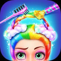 rainbow hair salon dress up buy now 000 a magic rainbow theme fashion hair