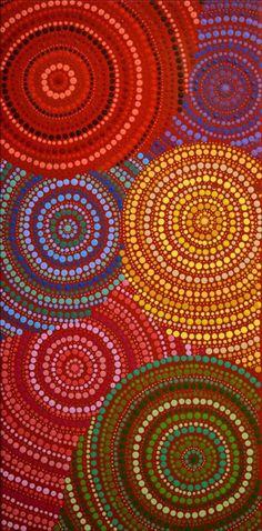 Watiya-warnu Jukurrpa (Seed Dreaming) by Charmaine Napangardi Granites Aboriginal Dreamtime, Aboriginal Painting, Aboriginal Artists, Dot Art Painting, Abstract Art, Aboriginal Culture, Arts Award, Australian Art, Indigenous Art