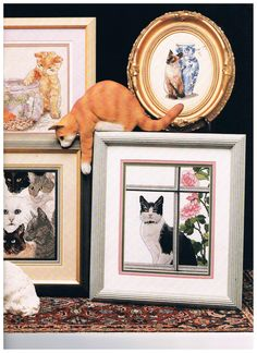 Fabulous Felines Charted Cross Stitch Designs by by SparrowFinds