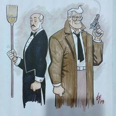Comissioner Gordon and Alfred from Ty Templeton. Sweet Birthday Messages, Dc Batgirl, Phil Noto, Happy Star Wars Day, Bat Family, Silver Age, Marvel Vs, Animation Series, Supergirl
