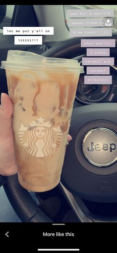 Healthy Starbucks Drinks, Iced Coffee Drinks, Coffee Drink Recipes, Starbucks Hacks, Starbucks Secret Menu Drinks, Starbucks Coffee, How To Order Starbucks, Smoothie Drinks, Smoothies