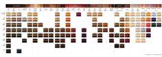 Igora color line Schwarzkopf Hair Color Chart, Redken Hair Color, Brown Hair Shades, Brown Hair Colors, Hair Colours, Redken Color Fusion Chart, Redken Chromatics, Schwarzkopf Igora, Matrix Hair Color