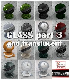 SKETCHUP TEXTURE: GLASS VISMAT VRAY FOR SKETCHUP PART.3
