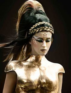 #2 Current scientific/techno inspiration ; Katy Perry alien look in Warrior song VideoClip