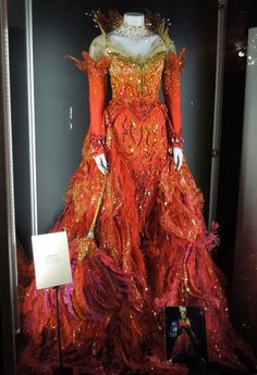 2000 Fire Dress worn by Glenn Close in Dalmations'. Academy Award Nomination for Best Costume Design Anthony Powell. 2000 Fire Dress worn by Glenn Close in Dalmations'. Academy Award Nomination for Best Costume Design Anthony Powell. Movie Costumes, Cool Costumes, Halloween Costumes, Best Costume Design, Dress Up, Queen Dress, Fairy Dress, Fantasy Costumes, Fantasy Dress