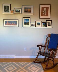 Living Room Ikea Mosslanda Photo Ledge - Color, Thin Frames, DIY