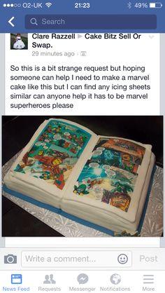 Birthday comic cake