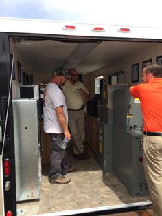 Rick Willeford going over one of the Allstyle units in our show trailer.
