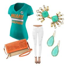 """""""Miami Dolphins"""" by tiffany-volkerding on Polyvore featuring NIKE, Frame Denim and Stella & Dot"""