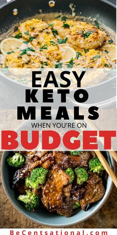 Best Frugal Keto Dinners - Fast and Easy to Make. These quick keto dinner ideas are SO GOOD! Your family will love these keto-friendly dinner recipes. If you're looking for easy top rated keto dinner Quick Keto Meals, Frugal Meals, Easy Healthy Dinners, Budget Meals, Easy Healthy Recipes, Keto Recipes, Soup Recipes, Frugal Recipes, Quick Easy Cheap Meals