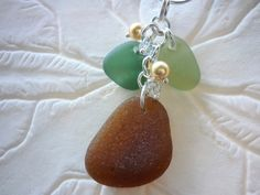 Fall Sea Glass Necklace Seaglass Jewelry Amber by TheMysticMermaid