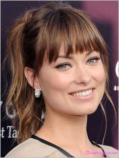 Celebrity hairstyles with bangs 2017 - http://www.allnewhairstyles.com/celebrity-hairstyles-with-bangs-2017.html
