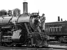# 89 getting a polish after a hard days work. Strasburg Railroad, Pennsylvania Dutch Country, Train Engines, Hard Days, Steam Engine, Steam Locomotive, Day Work, Trains, Engineering