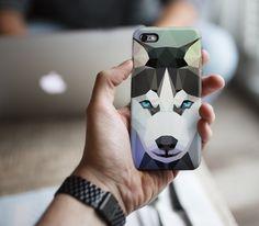 Fancy - Geometric Husky Polygonal Phone Case