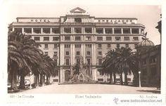 A Coruña. Spain, Multi Story Building, Louvre, Street View, Travel, City, Vintage Postcards, Antique Photos, Obelisks