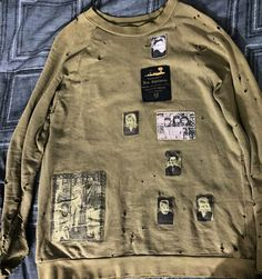 "Raf Simons ""Riot Riot Riot"" Patch Sweater Size M $1300 - Grailed"