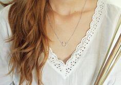 Lucky horseshoe necklace horseshoe charm by YvonneBoutique