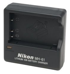 Nikon MH-61 Battery Charger for Coolpix 3700, 4200, 5200, and P Series Digital Cameras