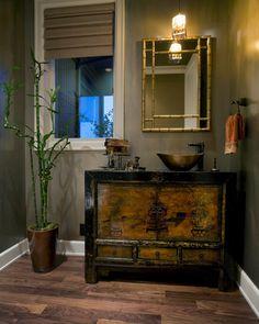 Asian bathroom vanity bathroom decor bathroom inspired bathroom decor best bathroom ideas on bathtubs cute teen Bathroom Mirror Design, Bathroom Styling, Bathroom Interior, Vanity Design, Bathroom Vanities, Bathroom Designs, Bathroom Ideas, Asian Bathroom, Bamboo Bathroom