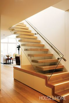 Floating Wood Staircase | House & Home
