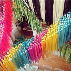 #streamerbackdrop Rainbow Party Decorations, Balloon Decorations, Festa Party, Diy Party, Wedding Streamers, Streamer Backdrop, Balloon Garland, Backdrops For Parties, Unicorn Party