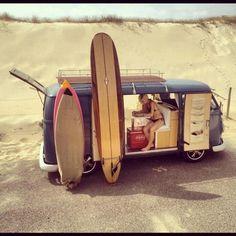 Vintage Travel Volkswagon Van :: VDUB :: VW bus :: Volkswagen Camper :: The perfect vintage travel companion for the beach, surf, camping summer road trips :: Free your Wild :: See more van travel style Volkswagen Transporter, Volkswagen Bus, Vw T1, Volkswagon Van, Surf Europe, Vans Vw, Carros Vw, Vw Caravan, Vw Camping