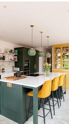Kitchen Interior, Home Decor Kitchen, Open Plan Kitchen Dining, Kitchen Plans, Kitchen Decor, Open Plan Kitchen Living Room, New Kitchen, Kitchen Dining Room, Kitchen Design
