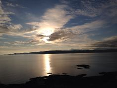 Beautiful sunset looking from Mallaig across to the Isle of Skye