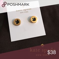 ♠️ NEW KATE SPADE SPADE BLACK STUD EARRINGS Brand new super cute! With tags and dust bag kate spade Jewelry Earrings